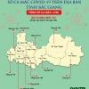 박장성 지역별 확진자 발생 현황..., 비엣옌 지역이 3,225건으로 가장 많아