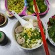 호찌민시,약 60년 전통의 유명한 소고기 미트볼 쌀국수 전문점