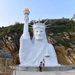 베트남 유명 관광지에 등장한 무허가 가짜 '자유의 여신상' 폐쇄 명령