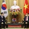 동남아 순방중인 정의용 외교부 장관 베트남 국가주석 예방