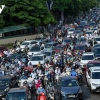말로만 방역 강화하는 하노이시 출퇴근길 교통 혼잡은 여전
