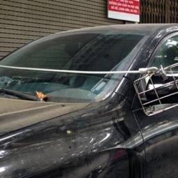 하노이 거리에서만 볼 수 있는 '도둑 방지법'
