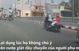 호찌민시: 도로 위 2인조 오토바이 강도의 대담한 범행 장면