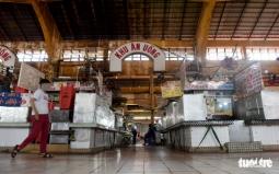 호찌민시: 외국인 관광객 없는 텅빈 벤타잉 시장.., 50% 이상 문 안열어