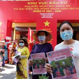 하노이시: 투표소 방역 실시..., 내일로 다가온 총선