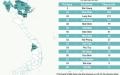 베트남에서 14일 이상 코로나 감염자 발표 없는 18개 코로나 청정지역