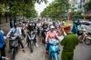 하노이시: 도로 검역 통제소 이동 통제 강화 후 교통 혼잡 발생
