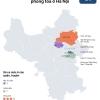 하노이시: 코로나 확진자 발생으로 봉쇄된 5개 지역