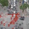 하노이시: 교차로에서 교통법규 위반 사례.., 1초에 1건 수준