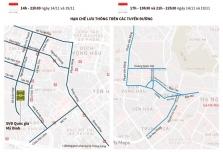 하노이, 오늘(11/14일) 축구 경기로 약 20여개 노선 통행 금지
