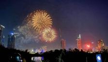 호찌민시: 새해 1월 1일에 3개소에서 불꽃 놀이 예정