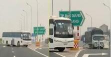 삼성전자 베트남 통근 버스 고속도로에서 역주행, 자동차 블랙박스에 덜미