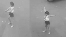 호찌민시: 시내 교차로에서 칼 들고 이상한 행동한 여성