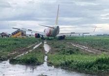 호찌민시: 폭우로 항공기 착륙 중 불시착.., 인명 피해 없어