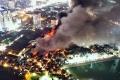 하노이, 시내 중심부에 위치한 전구 보관 창고에서 대형 화재 발생