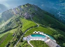 베트남 북부, 산 전망 인피니티 수영장 4개소