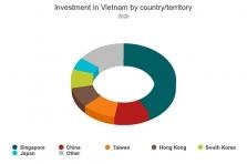 베트남 외국인직접투자 코로나 영향으로 25% 감소.., 한국은 5위