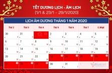 베트남, 2020년 공휴일 총 14일.., 뗏 휴무는 7일