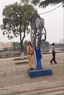 베트남 경찰들의 단속 방법