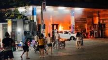 하노이시, 주유소에서 자동차 화재 발생으로 화들짝.., 운전자 부주의