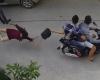 호찌민시: 골목길 2인조 오토바이 날치기 강도 체포