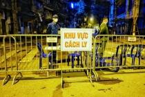 하노이, 17번 확진자 '지역 봉쇄'.., 축백-쳐우렁 거리