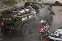 하이퐁市, 검역차량 이용해 주요 거리 소독 작업
