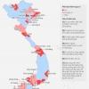 베트남 63개 지역별 코로나19 위험성 평가 분포 현황