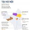 하노이시: 코로나 감염자 발생 지역별 현황.., 한인 밀집지역 남뜨리엠구 최다