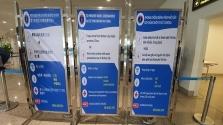 하노이, 노이바이 공항 코로나 바이러스 검역 강화