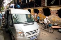 하노이, 대형 화재 발생지역에 대한 환경 당국의 오염도 측정