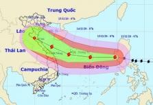 베트남 태풍 13호 밤꼬 중부지역 상륙 예상.., 11/15일 새벽