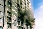 호치민市, 고층 아파트에서 검은 연기..., 화재 피해자는 없어
