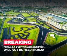 하노이, 포뮬러 원 베트남 그랑프리 공식 취소 발표