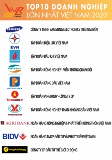 VNR500 랭킹: 베트남 기업 톱10에서 삼성전자가 1위