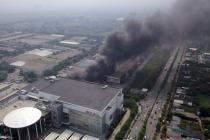 하노이, 롱비엔 이온몰 인근 사이동 공단에서 대형 화재 발생