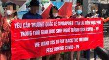 하노이, 싱가포르 국제학교 학부모들도 항의 시위.., 학교측은 묵묵부답