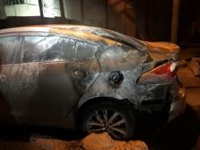 냐짱시: 도로에 주차된 차동차에 휘발유로 불지른 범인 체포