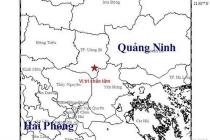 꽝닌省, 진도 3.2 규모의 지진 약 3초간 발생