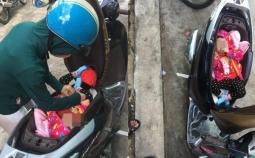 오토바이에서 기저귀 가는법