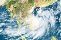 태풍 민들레 상륙, 400mm의 강우량 동반