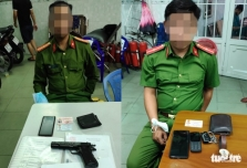 호찌민시: 공안 사칭해 갈취 시도한 가짜 공안 체포.., 사기 전과자
