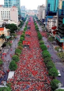베트남, 월드컵 예선전 응원 준비 돌입.., 호찌민시에서는 대규모 길거리 응원 준비