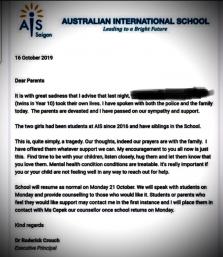 호찌민시, 국제학교에 다니던 말레이시아 쌍둥이 자매 자살 충격
