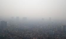 베트남 북부지역 대기오염 심각한 수준.., 야외 활동 자제