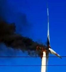 베트남, 풍력발전기에서 화재 발생.., 원인 조사중